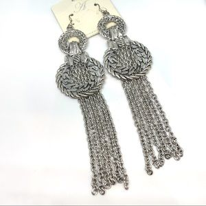 NEW-BohoChic Delicate chains Chandelier Earrings